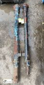 2 Victorian cast iron octagonal Gate Posts, 56in high (1 with damage)