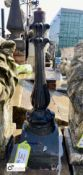 Decorative Victorian cast iron Lamp Post, 24in high