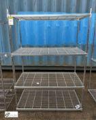 Stainless steel adjustable 4-shelf Rack, 1200mm x 600mm x 1710mm (LOCATION: Stanningley, Leeds)