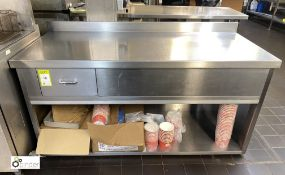 Stainless steel Preparation Table, 1610mm x 700mm x 800mm high with integral drawer and