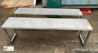 Pair stainless steel Changing Room Benches, 1500mm x 300mm x 460mm (LOCATION: Stanningley, Leeds)