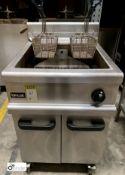 Lincat stainless steel mobile twin basket Deep Fat Fryer, gas fired, 600mm x 750mm x 920mm (
