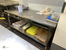 Stainless steel Preparation Table, 1800mm x 750mm x 740mm high, with undershelf and drawer (in