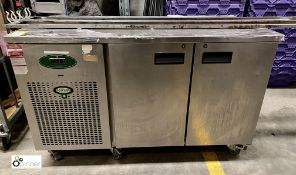 Foster EPRO 1/2H stainless steel mobile double door Refrigerated Counter, 1410mm x 700mm x 860mm,