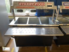 Victor BS30HB850RQ stainless steel mobile Heated Food Counter, 1200mm x 610mm x 850mm, 240volts,