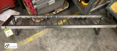 Stainless steel wall mounted Pan Rack, 1200mm x 300mm (LOCATION: Stanningley, Leeds)