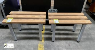 Pair Changing Room Benches, 600mm x 310mm x 410mm high (LOCATION: Stanningley, Leeds)