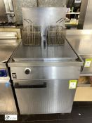 Falcon stainless steel twin basket Deep Fat Fryer, gas fired, 600mm x 770mm x 860mm (in Kitchen) (