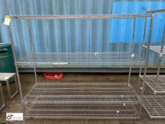Stainless steel adjustable 4-shelf Rack, 1820mm x 610mm x 1570mm (LOCATION: Stanningley, Leeds)