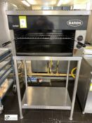 Bartlett Baron stainless steel Salamander, gas fired, 800mm wide x 500mm deep x 470mm high, with