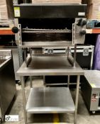 Lincat Salamander, gas fired, mounted on stainless steel preparation table, 900mm x 770mm x 930mm