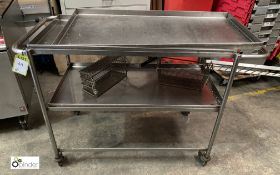 Stainless steel tubular framed 3-tier Trolley, 1010mm x 510mm x 880mm high (LOCATION: Stanningley,