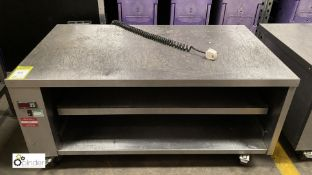 Stainless steel mobile Heated Cabinet, 1200mm x 690mm x 560mm high, 240volts (LOCATION: Stanningley,