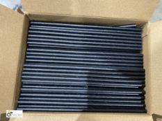 Approx 64 boxes Paper Straws, unwrapped, black, 3000 per box, 197mm x 6mm, B033