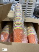 5 boxes 16oz Ripple Cups, black, 500 per box; 1 box rainbow range Ripple Cups, 500 per box; 1 box