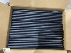 Approx 25 boxes Paper Straws, unwrapped, black, 3000 per box, 197mm x 6mm, D072