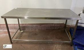 Stainless steel Preparation Table, 1800mm x 800mm
