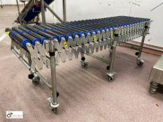 Mobile flexy Roller Conveyor, 1750mm x 450mm (LOCA