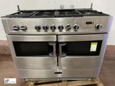 Rangemaster stainless steel gas fired 6-ring Doubl