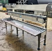 Kensal stainless steel Roller Conveyor, with inbui