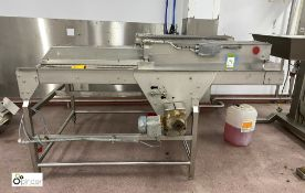 Stainless steel twin lane Cooling Conveyor, 2000mm