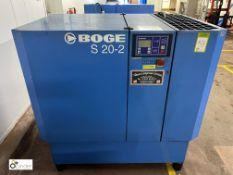 Boge S20-2 Packaged Air Compressor, swp 10bar, 15k