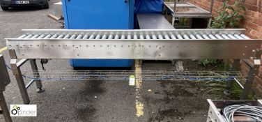 Section stainless steel Roller Conveyor, 2700mm x
