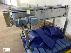 Stainless steel powered Conveyor, 254mm belt width