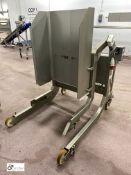 Syspal stainless steel mobile Bin Tipper, 350kg ca