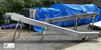 Stainless steel powered inclined Conveyor, 4720mm