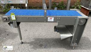 Stainless steel powered Belt Conveyor, 1400mm x 30