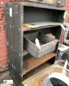 Steel double sided 4-shelf Rack (LOCATION: Sussex Street, Sheffield)
