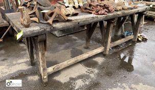 Timber Workbench, 2500mm x 800mm (LOCATION: Sussex Street, Sheffield)