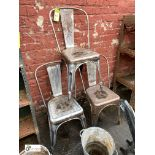 3 steel Canteen Chairs (LOCATION: Sussex Street, Sheffield)