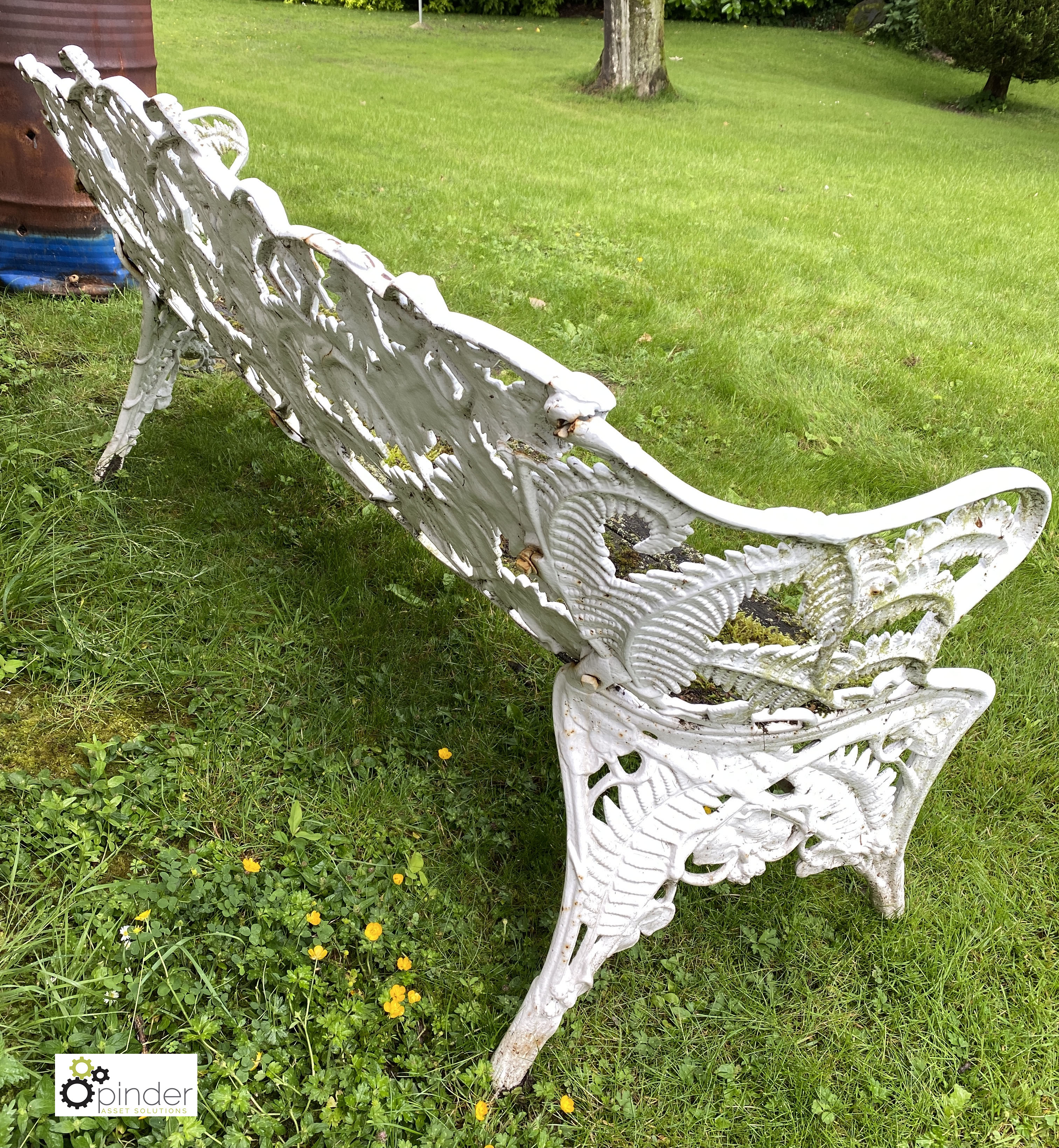 Decorative cast iron Garden Bench, with timber seat, 1890mm wide (LOCATION: Todwick, Sheffield) - Image 12 of 13