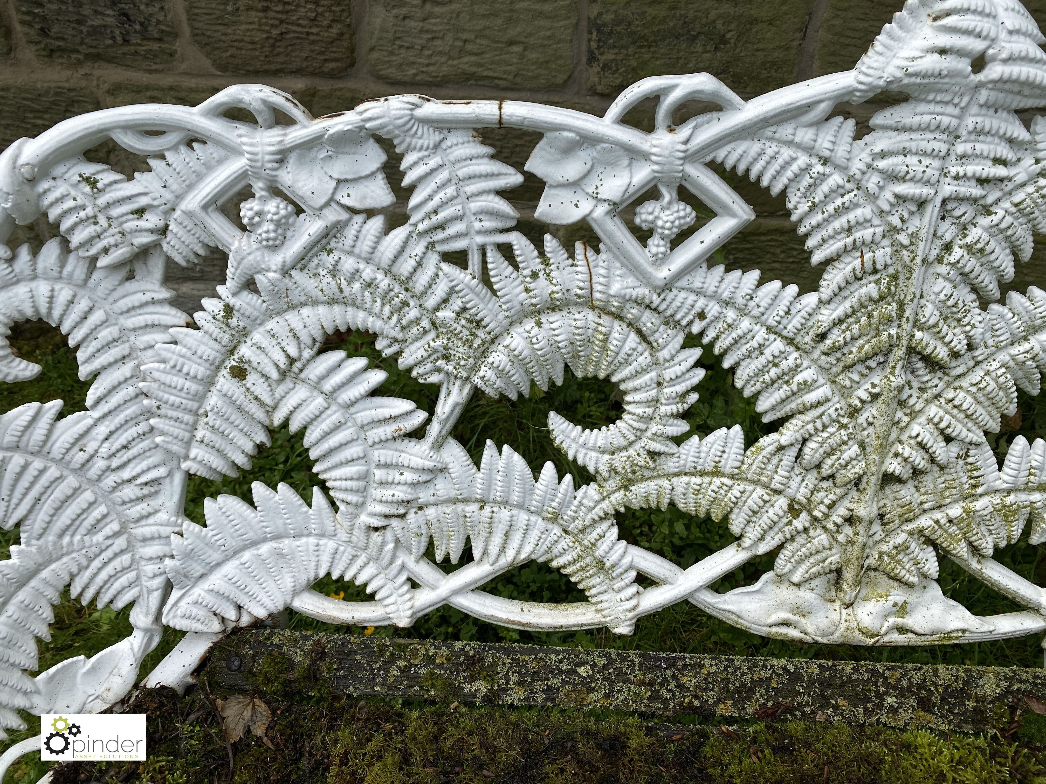 Decorative cast iron Garden Bench, with timber seat, 1890mm wide (LOCATION: Todwick, Sheffield) - Image 6 of 13