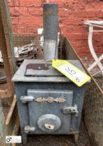 Cast iron miniature Stove, 210mm wide x 170mm deep x 290mm high (LOCATION: Sussex Street,
