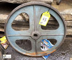 Cast iron Fly Wheel, 550mm diameter (LOCATION: Sussex Street, Sheffield)