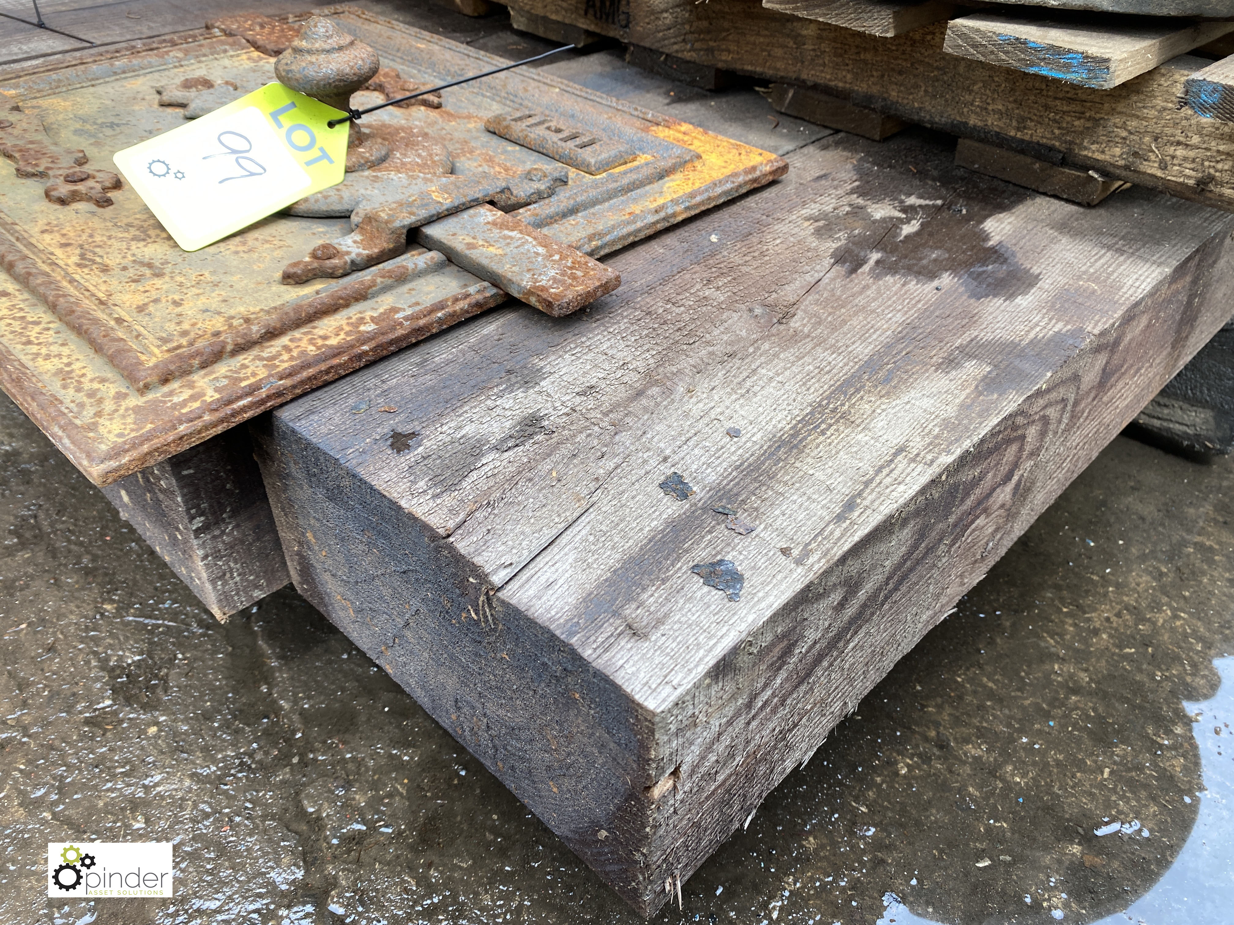 4 Railway Sleepers, 2600mm x 250mm x 135mm (LOCATION: Sussex Street, Sheffield) - Image 2 of 5