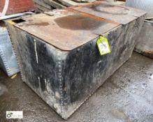 Steel twin lid Water Tank, 1230mm x 630mm x 610mm tall (LOCATION: Sussex Street, Sheffield)