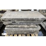 7 various Yorkshire stone Slabs, to pallet (LOCATION: Sussex Street, Sheffield)