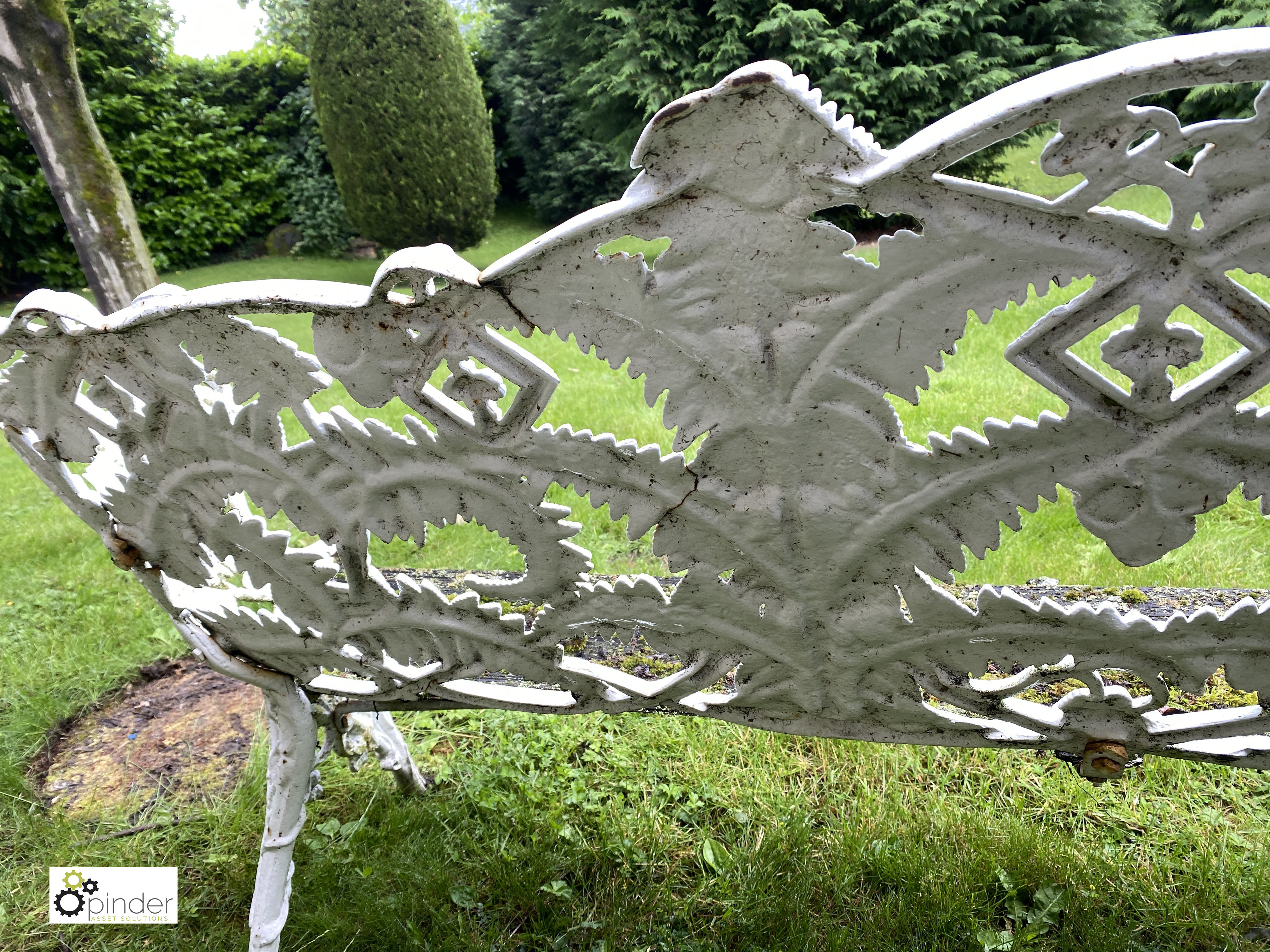 Decorative cast iron Garden Bench, with timber seat, 1890mm wide (LOCATION: Todwick, Sheffield) - Image 10 of 13
