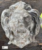 Aluminium Plaque depicting lion's head, 220mm x 200mm (LOCATION: Sussex Street, Sheffield)
