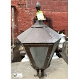 Brass Lantern, 900mm tall x 600mm wide max, fully glazed (LOCATION: Sussex Street, Sheffield)
