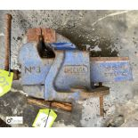 Record No3 Engineers Vice, 90mm wide (LOCATION: Sussex Street, Sheffield)