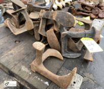 Approx 20 cast iron Cobblers Shoe Lasts (LOCATION: Sussex Street, Sheffield)