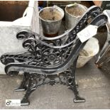 Pair cast iron Bench Ends (LOCATION: Sussex Street, Sheffield)