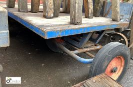 Steel framed timber bed Cart, 2000mm x 1000mm (LOCATION: Sussex Street, Sheffield)