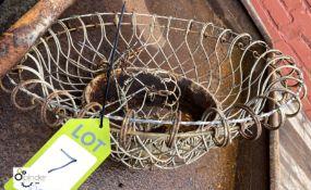 Wire Hanging Basket, 550mm diameter max (LOCATION: Sussex Street, Sheffield)