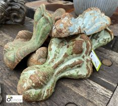 6 cast iron Decorative Feet (LOCATION: Sussex Street, Sheffield)